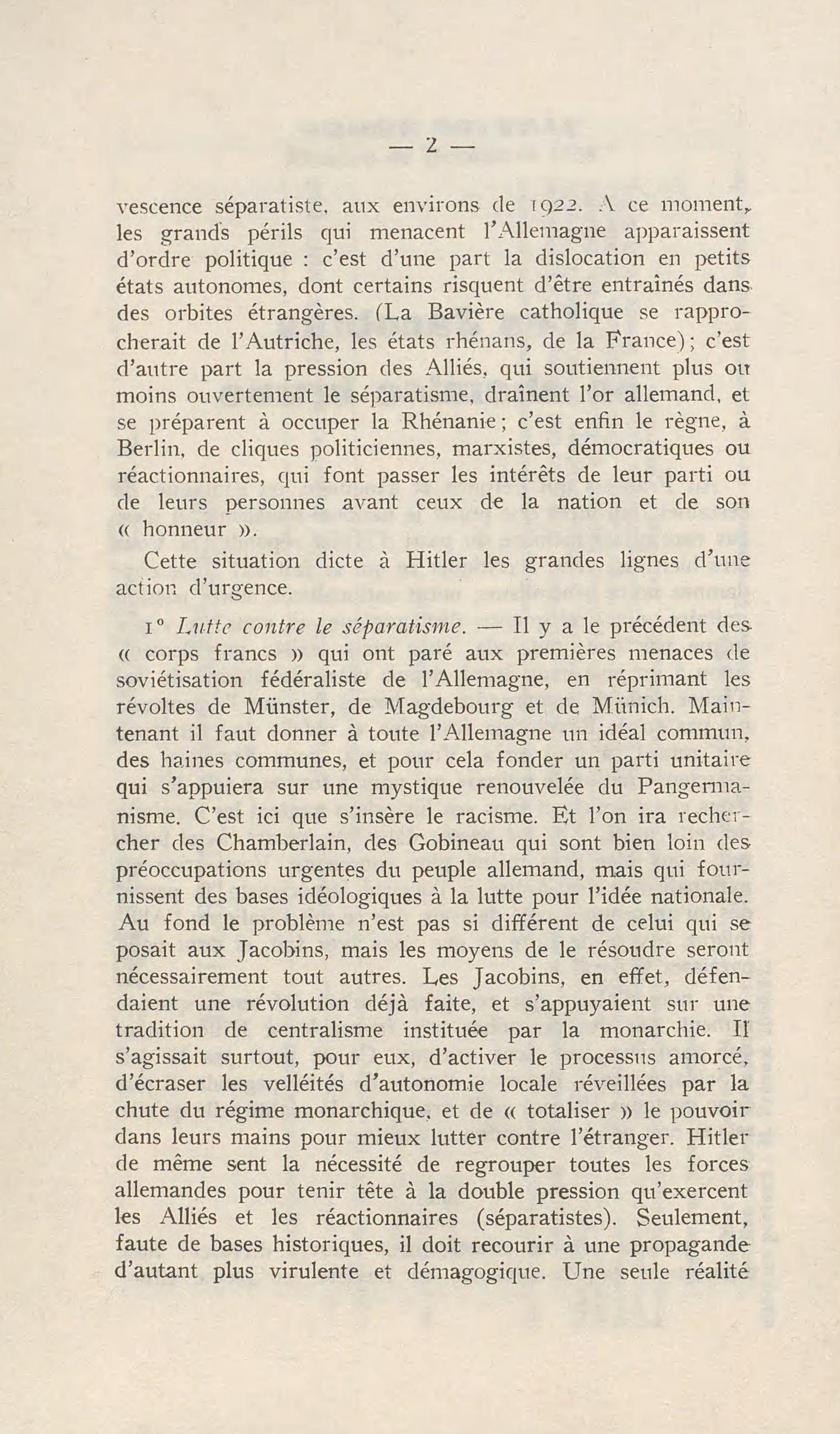 Les Jacobins En Chemise Brune Decembre 1936 L Ordre Nouveau Rougemont 2 0